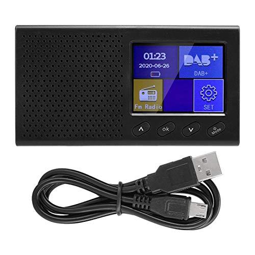 YJZO Mini Radio Bluetooth -Dab Radio FM portátil Bluetooth Digital con Reproductor de música MP3 Pantalla LCD a Color