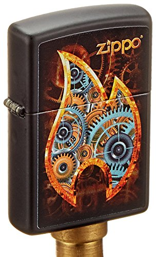 Zippo Steampunk Flame Lighter, Metal, Silver, One Size