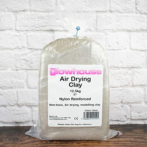 The Glowhouse Air Drying Modelling Clay Nylon Reinforced 12.5kg (Stone)