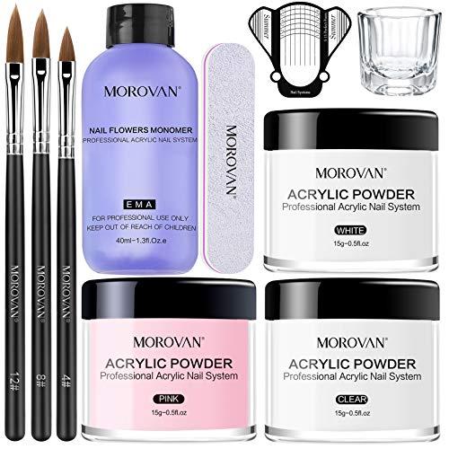 Morovan Acrylic Nail Kit Acrylic Powder...