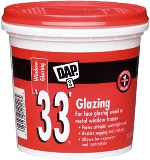 Dap 12019 Number-33 Glazing Compound, Gallon, White