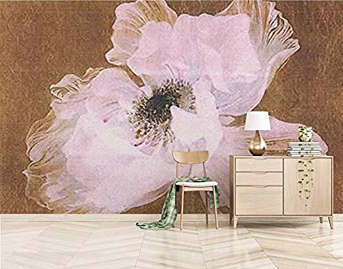 ZJfong Fotobehang 3D Effect Behang Mooie Handbeschilderde Olieverfschilderij Bloemen Ontwerp muurschilderingen Behang Decoratie 42 x 260 cm.