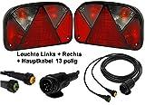 FKAnhängerteile Aspöck Multipoint 2 - Leuchten Set - 13polig - 4m Kabel