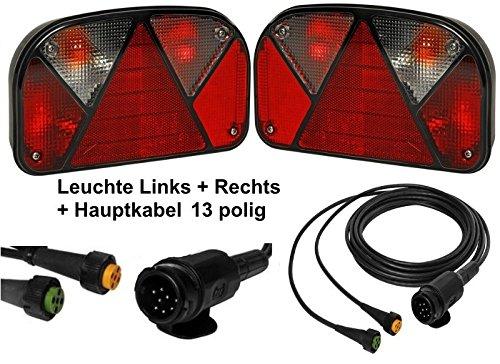 FKAnhängerteile Aspöck Multipoint 2 - Leuchten Set - 13polig - 5m Kabel