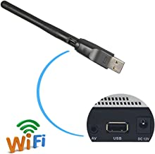 2,4 GHz 150 Mbps USB WiFi Adaptador con Antena, 11 N Dongle inalámbrico para mag 254 250 iptv Set Top Box Skybox Openbox Raspberry Pi/PC/Escritorio/portátiles/win7,8,10/Mac OS/Linux (RT5370 Memoria)