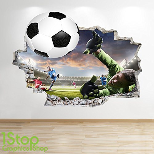 1Stop Graphics Shop FOOTBALL STADIUM WALL STICKER 3D LOOK - BOYS KIDS BEDROOM WALL DECAL Z569 Size: Large