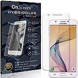 OnScreen Schutzfolie Panzerglas kompatibel mit Samsung Galaxy On5 (2016) Panzer-Glas-Folie = biegsames HYBRIDGLAS, Bildschirmschutzfolie, splitterfrei, MATT, Anti-Reflex - entspiegelnd