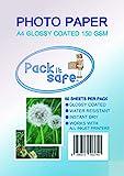 Packitsafe 150GL50 - Papel fotográfico (A4, 150 g/m², 210 x 279 mm)