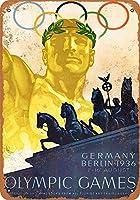 SUDISSKM ブリキ看板1936年オリンピックベルリンドイツコレクティブルウォールアート