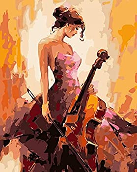 Cello DIY Paint by Number Adult Oil Painting Acrylic Paint Arts and Crafts Kits kit Living Room Bedroom Decoration Gift^<16  by 20 >