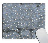 Smooffly Star Mouse Pad Stars Mousepad Sky Mouse Pad Twinkle Star Mouse Pad Square Mouse Pad Blue Mousepad Star Mouse Pad Cute Mouse Pad Stars