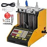 Mophorn Máquina de Limpieza de Inyectores para 4 Cilindros Limpiador de Inyectores de Combustible Cilindro Profesional CT150