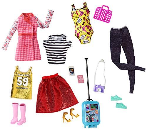 Barbie Pink Passport Ropa Barbie y Accesorios para las Muñecas (Mattel FLB31) , color/modelo surtido