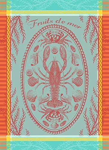 Garnier Thiebaut Torchon Maree Basse Lagon 56 x 77 cm 100 % coton