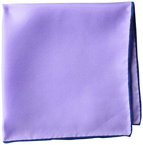Amazon Brand - Buttoned Down Men's Classic Silk Hand Rolled Pocket Square, solid Light Purple, One Size