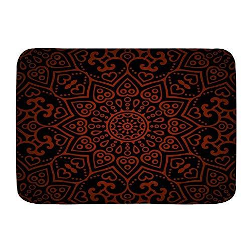 Fußmatten, marokkanisches Mosaik-Patch-Muster Mexikanische Vintage orientalische abstrakte Abstraktion asiatische aztekische magische Blume, Küchenboden Badteppichmatte saugfähig Innenbad Dekor Fußmat