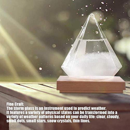 Storm glas Weersverwachting Weerstation Innovatieve Weersvoorspeller Storm Glazen Fles Barometer voor Huis en Kantoor Decor voor Valentijnsdag Verjaardagscadeau
