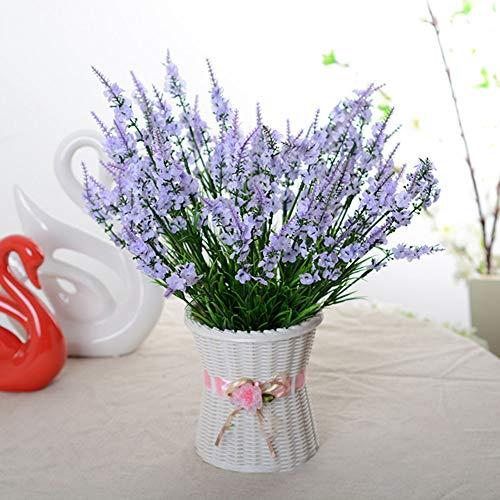 XdiseD9Xsmao 1 stuk levendige kleur verfrissende kunstbloem lavendel tuin DIY party huwelijk kerstfeest handwerk tafel decoratie wit