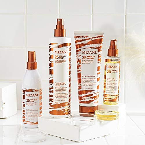 MIZANI 25 Miracle Milk Leave-In Conditioner | Moisturizing Detangler Spray| for Frizzy & Curly Hair | 8.5 Fl Oz