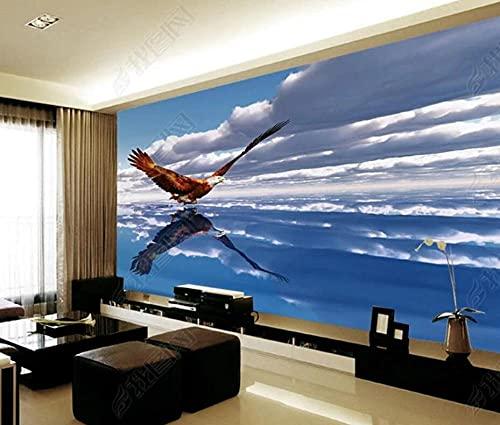 Papel Pintado Pared Papel Dormitorio Salon Decoración de Paredes Águila Del Cielo, Vuelo Fotomural 3D Papel Tapiz Custom Mural Pared 250x175cm