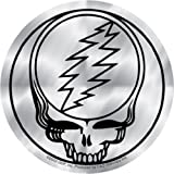 Licenses Products Grateful Dead Steal Your Face Sticker, Chrome