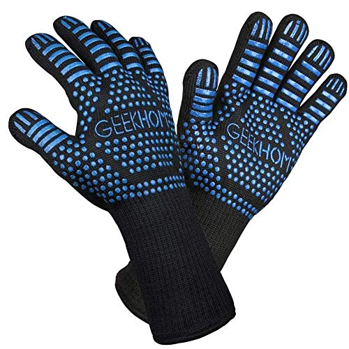 GEEKHOM Oven Gloves with Fingers, 1472℉ Heat...