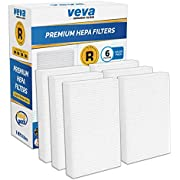 VEVA Complete 6 Premium HEPA R Replacement Filter Pack HRF-R3 HRF-R2 HRF-R1 Compatible with HW Air Purifier Series HPA090, HPA100, HPA200, HPA250 & HPA300