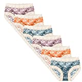 Chiyin Pack de 6 bragas de mujer de nailon, transpirable, cintura media, braguitas sexy, bragas de cintura media, paquete múltiple, M, L, XL