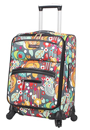 Lily Bloom Carry On Expandable Design Pattern Luggage With Spinner Wheels (20in, Bliss)