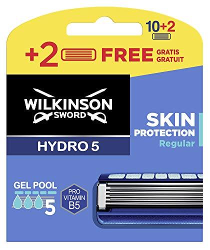 Wilkinson Hydro 5 Skin Protect Regular - Cuchillas de afeitar para hombre, 12 unidades