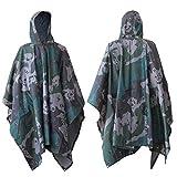 Raincoat Poncho - Rain Cape Hooded Poncho...
