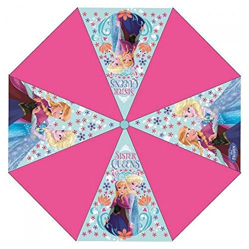 Chanos Chanos Frozen Automatic Metal Polyester Taslon Folding Umbrella, 46 cm, Pink...