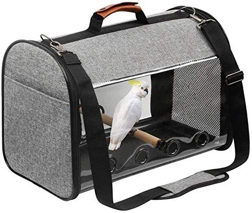 Fluffy Mesh Pet Travel Carrier, Barschvogelhalter, Leichte Papageienreise Bird Cage Totalizer Umhängetasche Transparente Tasche
