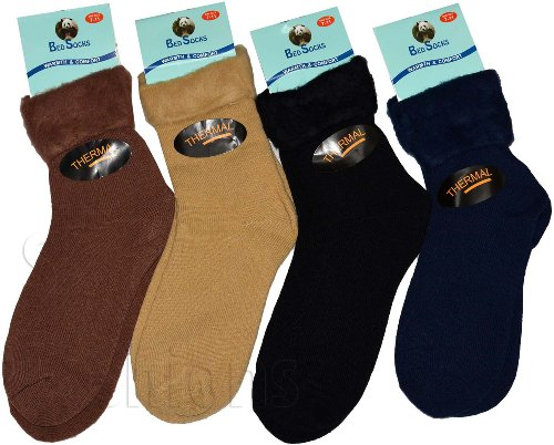 Herren-Bettsocken, Superweich, Thermo-Socken für den Winter, 3Paar, verschiedene Farben