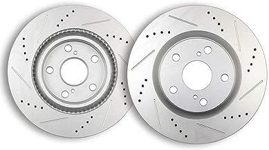 Brake Kits,ECCPP Front Drilled Slotted Discs Rotors for Lexus ES300h ES350,Pontiac Vibe,Scion tC,Toyota Avalon Camry Matrix RAV4
