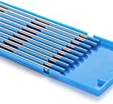 TEN-HIGH tig Electrodos de tungsteno Electrodos de soldadura, Lantano 2% Azul, Para soldadura CC y CA, 1 mm x 150 mm