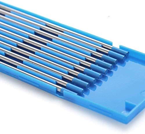 TEN-HIGH tig Electrodos de tungsteno Electrodos de soldadura, Lantano 2% Azul, Para soldadura CC y CA, 2.4 mm x 150 mm