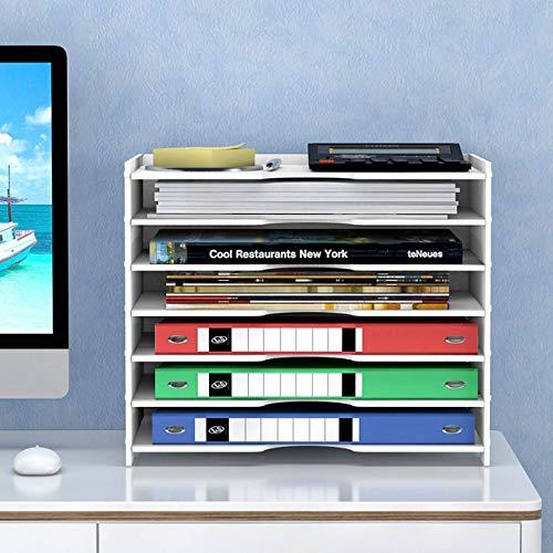 DGDHSIKG Aktenaufbewahrungsbox Office Desktop Manager-Aktenhalter mit Schiebeschublade für Haushaltspapiere Briefkastenhalter, 6 Ebenen