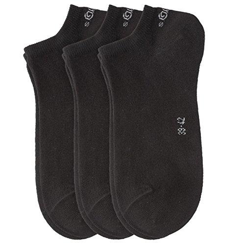S.Oliver unisex Sneaker Socken 6er Pack, Größe:39-42;Farbe:black (05)