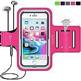 Smartlle Sportarmband für iPhone XS MAX 8 Plus 7 Plus 6/6S Plus, Galaxy S9/S8/S7 Plus, Note 8/6 LG V20 Huawei Mate 20 10 Pro. Running, Workout und Joggen Laufen Armband - Handyhalter Hülle(Pink)