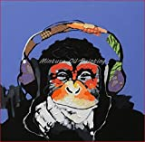 5D Diamond Painting By Number Kit Orangutan Listening To Music Painting Cross Stitch Full Drill Crystal For Home Wall Decor Gift Valentine'S Day Present 30 * 40cm