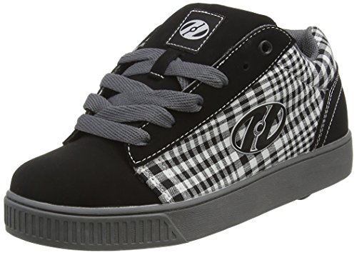 Heelys  Straight Up (TX2297D),  Unisex Kinder Sneakers , - Black/Plaid/Charcoal/White - Größe: 35 EU ( 3 UK )