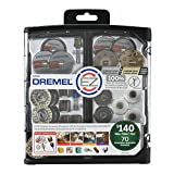 Dremel EZ725 All-Purpose Rotary Tool Accessory Set with Storage Kit, EZ-Lock and EZ Drum for Faster Accessory Changes, Accessories to Cut, Polish, Clean, and Sand, 70 Pieces