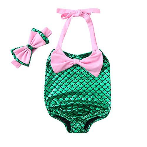 Poachers Poachers Kinder Kinder Mädchen Bikini Beach Bowknot Print Badeanzug + Stirnbänder Bademode Set