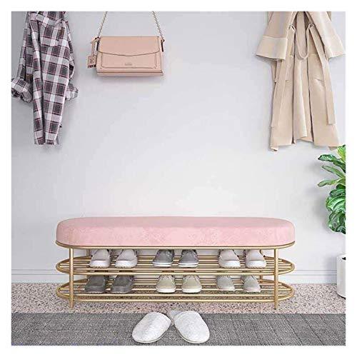 HHOSBFSS 5 Gabinete De Zapatos De Color, Taburete Escandinavo En La Puerta del Paquete Suave Puede Sentarse para Almacenar El Gabinete De Zapatos para El Hogar (Color : Girl Powder, Size : 80)