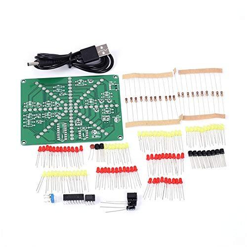 Kits de Luces Electrónicas para Bricolaje, LED Bricolaje Kits , Tablero de Práctica de Soldadura, 73 LED Flash Rojo Amarillo, PCB Conjunto de Circuitos Entrenamiento