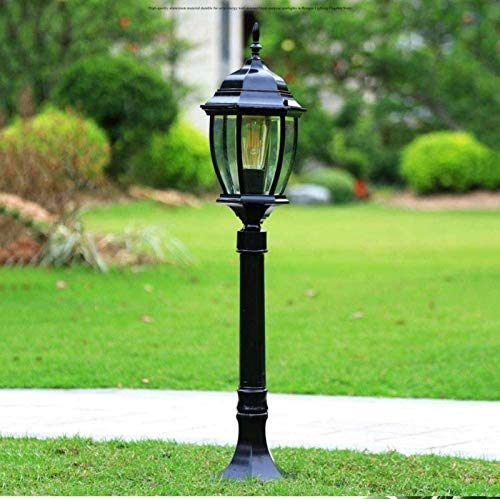 Decoración del hogar Luz de poste de linterna Luz de pilar decorativa Lámpara de jardín Paisaje exterior Lámpara de calle Iluminación Luz de poste alto Villa de aluminio Lámpara de patio impermeabl