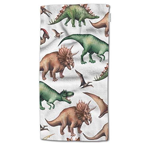 HGOD DESIGNS Toalla de baño con diseño de Dinosaurios, colección Acuarela de Dinosaurios, Toalla de baño, Manta, Toalla de Playa, 64 Pulgadas de Largo x 32 Pulgadas de Ancho, Towel-a2-3237, 64