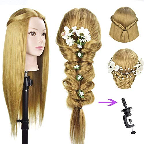 VIEWS Saloon Use Hair Dummy For Hair Styling Practicing,Cutting (Blonde)