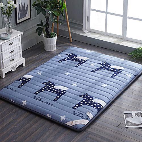 JIARUN Cotton Floor Futon Mattress Mat Topper, Breathable Sleeping Pad Matt Mat Japanese For Dormitory Home Crawling Mat-a 80x190cm(31x75inch)